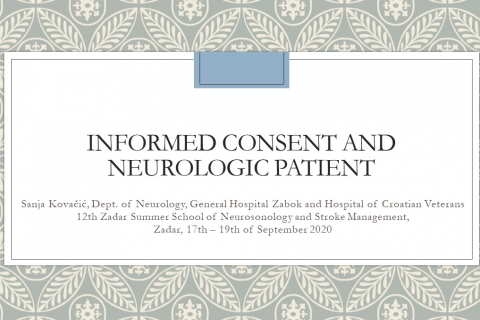 Informed consent and neurological patient - S. Kovacic (A08)