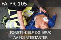Førstehjelp og bruk av hjertestarter (FA-PR-105)