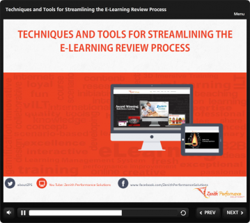 Techniques and Tools for Streamlining the E-Learning Review Process (TH501)