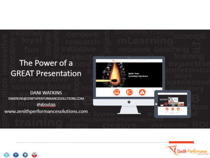 The Power of a GREAT Presentation